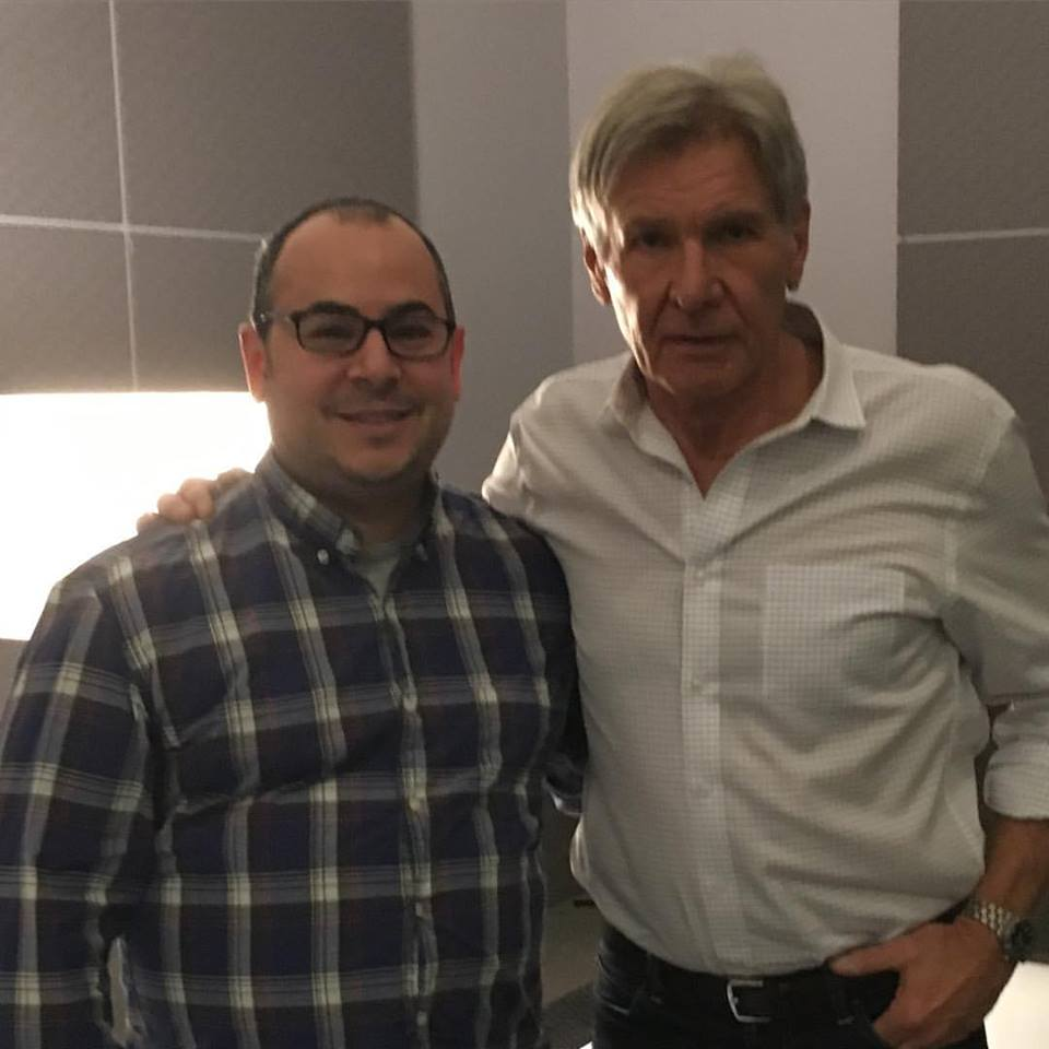 Germain Lussier and Harrison Ford